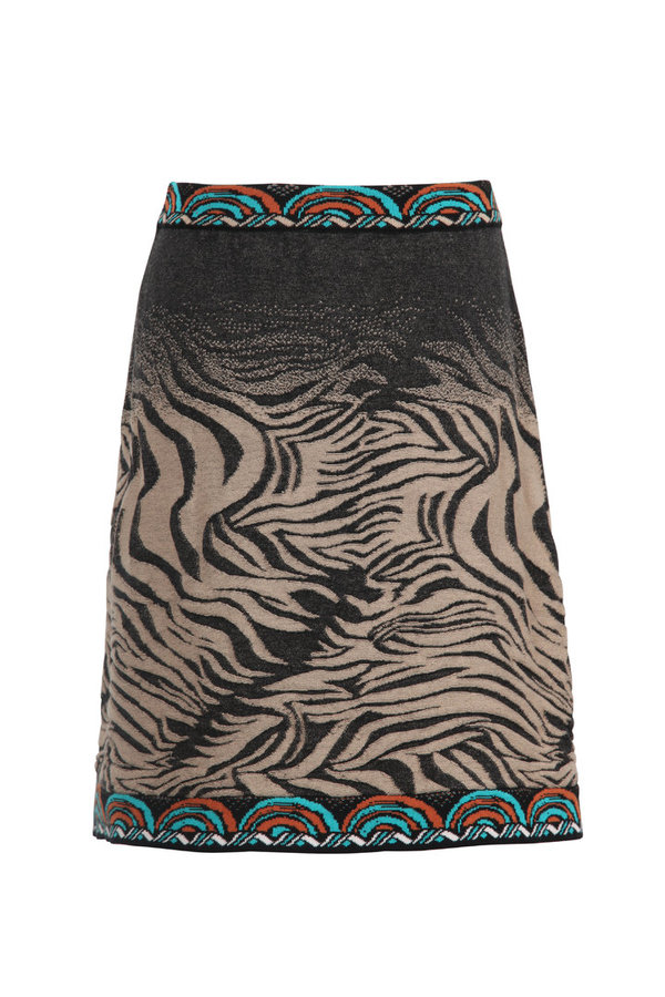 IVKO Jaquard Skirt mit Animal Print